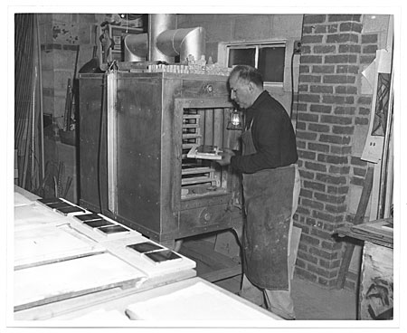 [Salvatore Aucello making ceramic exterior panels]