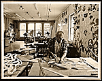 George Sugarman at work in his studio