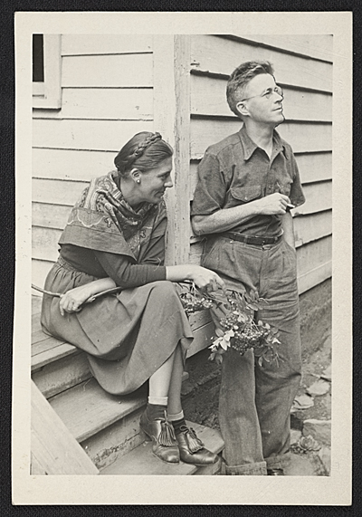 [George and Louise Ault in Woodstock, N.Y.]