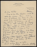 Marsden Hartley, New York, N.Y. letter to Milton Avery