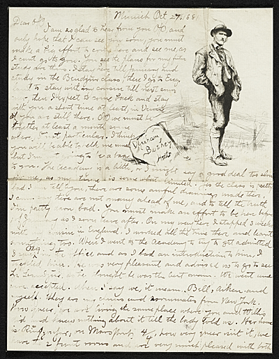 [Herbert Gustave Herkomer, Munich, Germany letter to Otto H. (Otto Henry) Bacher]