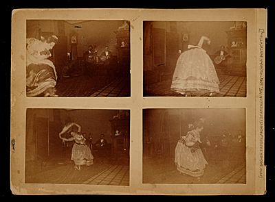 [Carmencita dancing in J. Carroll Beckwith's Sherwood studio]
