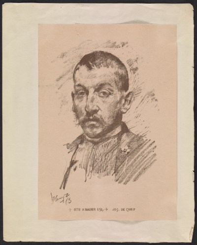[Reproduction of Joseph DeCamp's portrait of Otto Bacher]
