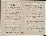 [Robert Frederick Blum, Tokyo, Japan letter to Otto H. (Otto Henry) Bacher verso 1]