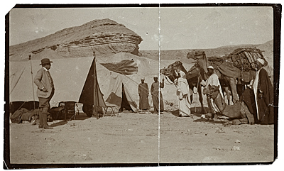 [Henry Bacon camping in Egypt]