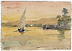 [Egyptian landscape sketch ]