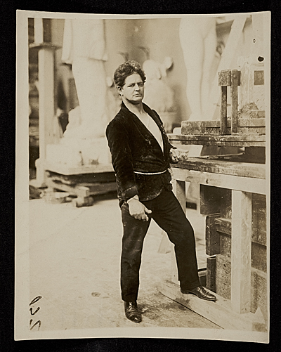 [George Grey Barnard in his studio]