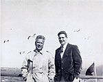 William Kienbusch (left) and Thomas Barrett on the St. John Digby Ferry, Nova Scotia