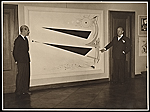 Rudolf Bauer and Filippo Tommaso Marinetti in an art gallery