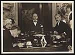 Filippo Tommaso Marinetti, Rudolf Bauer and others seated at a table