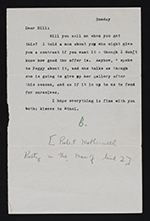 Robert Motherwell letter to William Baziotes with illustrated envelope