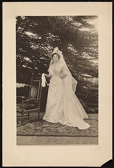 [Maud Ramsdell Beal on her wedding day]