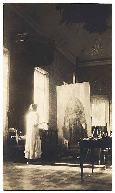 Cecilia Beaux with painting