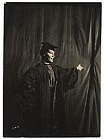 Cecilia Beaux in cap and gown