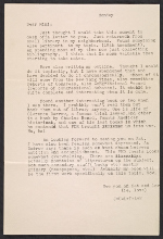 Unidentified sender letter to Miriam Beerman