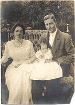 Gerrit Beneker with wife and baby