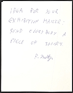 [Richard Meltzer mail art to Billy Al Bengston verso 1]