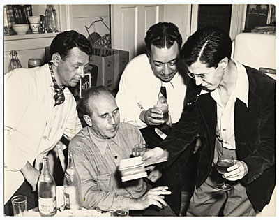 [John Pike, Carl Walters, Bill Moore and Carl Hubbell]