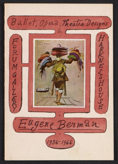 [Eugene Berman, ballet, opera and theatre designs]