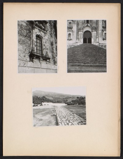 [Three photographs taken in Mexico]