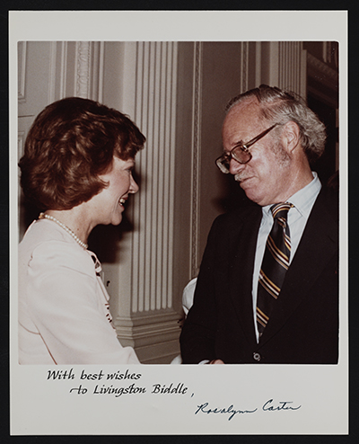 [Livingston Biddle with Rosalynn Carter]