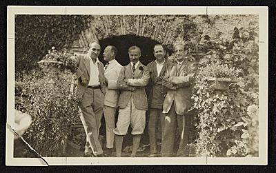 [Martin Birnbaum with friends in Italy]