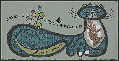 [Janet LaSalle Christmas card to Kathleen Blackshear and Ethel Spears]