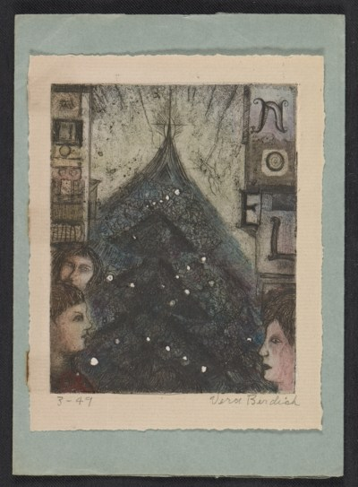 [Christmas card from Vera Berdich to Ethel Spears]