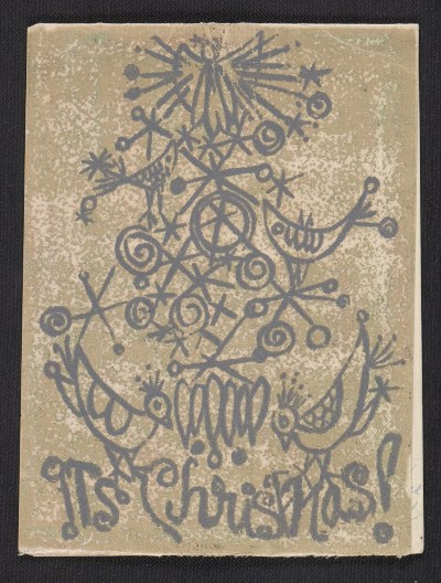 [Barbara Aubin Christmas card to Ethel Spears]