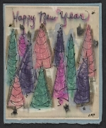 Judy Petacque holiday card to Kathleen Blackshear and Ethel Spears