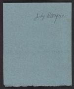 [Judy Petacque holiday card to Kathleen Blackshear and Ethel Spears verso 2]