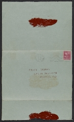 [Christmas card from Vera Berdich to Ethel Spears envelope 1]