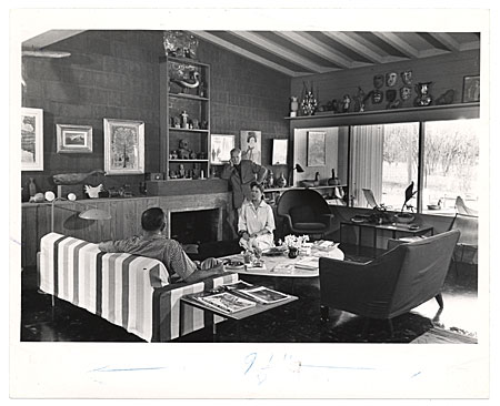 [Arnold Blanch at his Woodstock NY home]