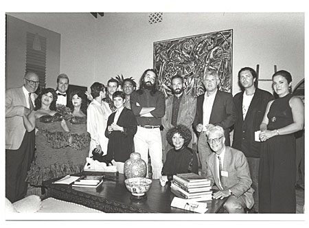 A photograph of the artists included in the Cuban Artists of the XXth Century exhibition