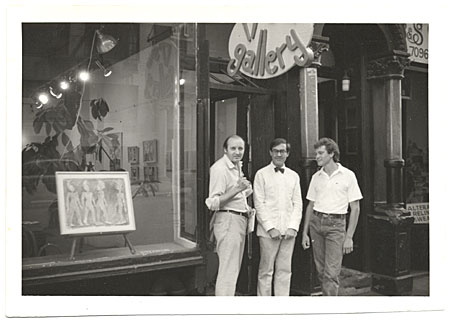 [Giulio Blanc with N. Montero and unidentified man at 17th Street Gallery]