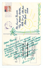 [Enrique Riverón, Miami, Fla. to Giulio V. Blanc, New York, N.Y. postcard back ]