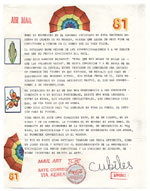 [Miguel Cubiles mail art to Giulio V. Blanc, New York, N.Y. page 2]