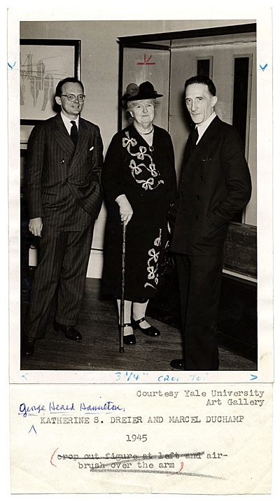 George Heard Hamilton, Katherine S. Dreier and Marcel Duchamp