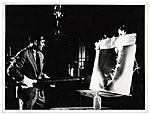 Yves Klein painting with fire