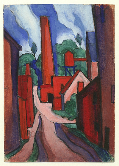 [Oscar Bluemner study The dance of factory life, etc., etc.]