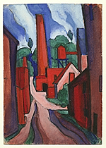 Oscar Bluemner study The dance of factory life, etc., etc.