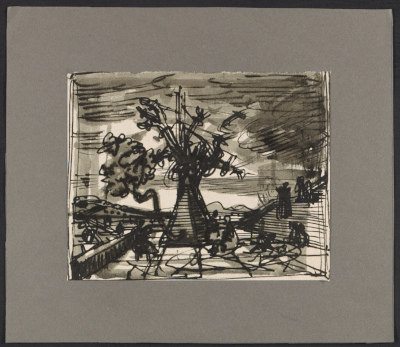 Study for Tassos oak by Peter Blume