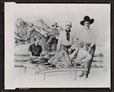 A photograph of Peter Blumes drawing of the Resor family