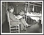 Peter Blume sketching patients at Halloran General Hospital in Staten Island