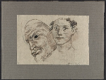 Drawing of heads (#DHD075-2)