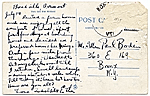 [Adolph Gottlieb to Paul Bodin. postcard back ]