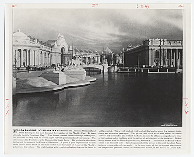 [Plaza Landing, Louisiana Way at the St. Louis World's Fair]
