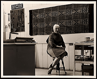 Dorr Bothwell in her studio