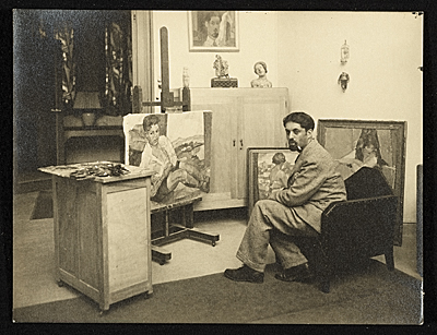 [Henry Botkin in his Paris studio]