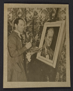 George Gershwin painting portrait of Arnold Schoenberg